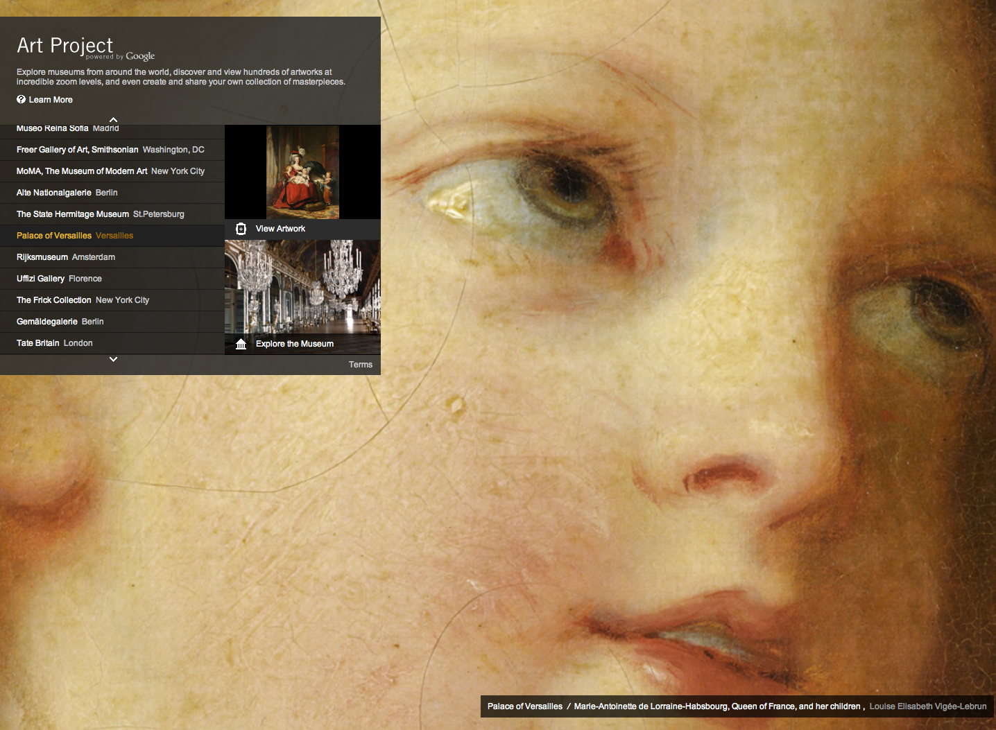 Musea all over the world at the click of your mouse; the Google Art project